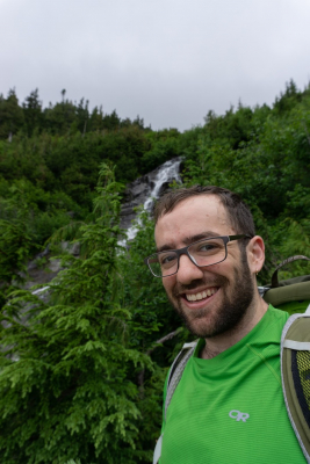 Samuel Rudy at the Sahale Arm Trail