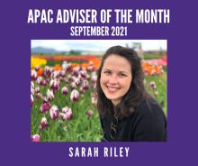 APAC Adviser of the Month portrait - Sarah Riley