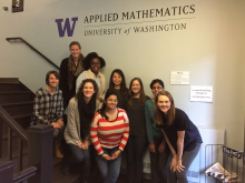 A group of women from the Applied Math Department
