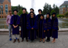The Graduates of 2018 in front of Drumheller Fountain