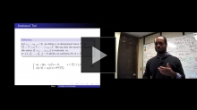 YouTube link to Bobby Wilson: Stability of the cubic nonlinear Schrodinger equation on the irrational torus