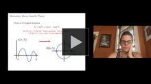 YouTube link to Margaret Beck: Spectral stability, the Maslov Index, and spatial dynamics