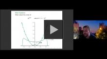 YouTube link to Stefan Steinerberger: A PDE describing roots of polynomials under differentiation